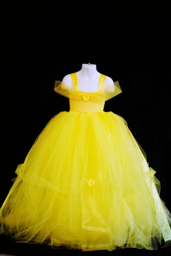 Newborn 4T Disney Belle Inspired Tutu Beauty and The Beast
