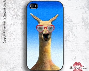 Baby Llama with Heart sunglasses - iPhone 4/4S 5/5S/5C/6/6+ and now iPhone 7 cases!! And Samsung Galaxy S3/S4/S5/S6/S7