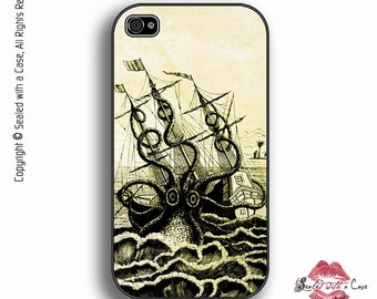 Octopus Attacks Pirate Shipwreck - iPhone 4/4S 5/5S/5C/6/6+ and now iPhone 7 cases!! And Samsung Galaxy S3/S4/S5/S6/S7