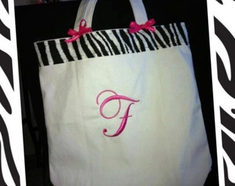 Large Personalized canvas Tote Bags