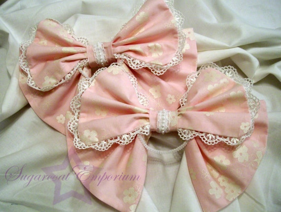 Double Tier Sakura Classic Sweet Lolita Alice Bow