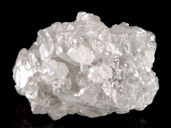 Raw Rough Diamond And Quotes: Loose 1.00 Ct Carat Fancy Silver White Cubic Cluster Single