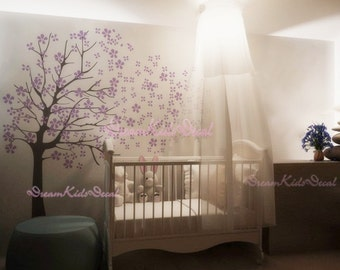 Tree wall Decal Wall Sticker Baby Nursery Decals-Cherry Blossoms Tree Decal-DK002