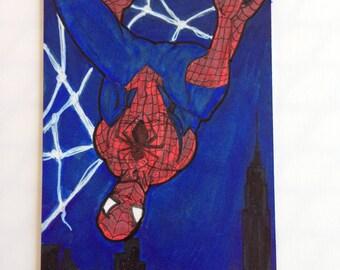ACEO Original   Spider-Man Artist Sketch Card in Copics (oversized)