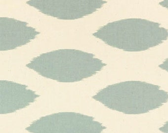 Blue Ikat Fabric by the Yard Premier Prints Chipper village natural Home Decor fabric yardage  - 1 yard or more - SHIPS FAST