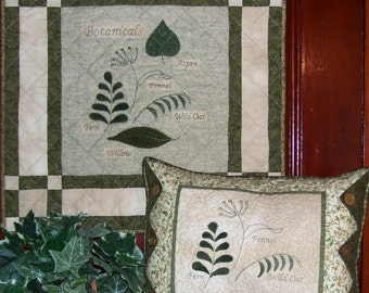 Botanicals Pattern - Wool and Cotton Wall Hanging and Pillow Pattern