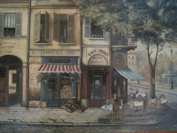 Vintage Pimpernel Pair Place Mats French Caf 233 Paris Street