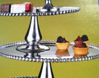 "10.5"" Cake Stand with base Multiple uses with the Wedding Invitation engraved"