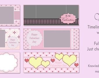Valentines Facebook Timeline Templates