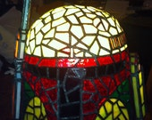 Stained Glass Tiffany Style Boba Fett Helmet