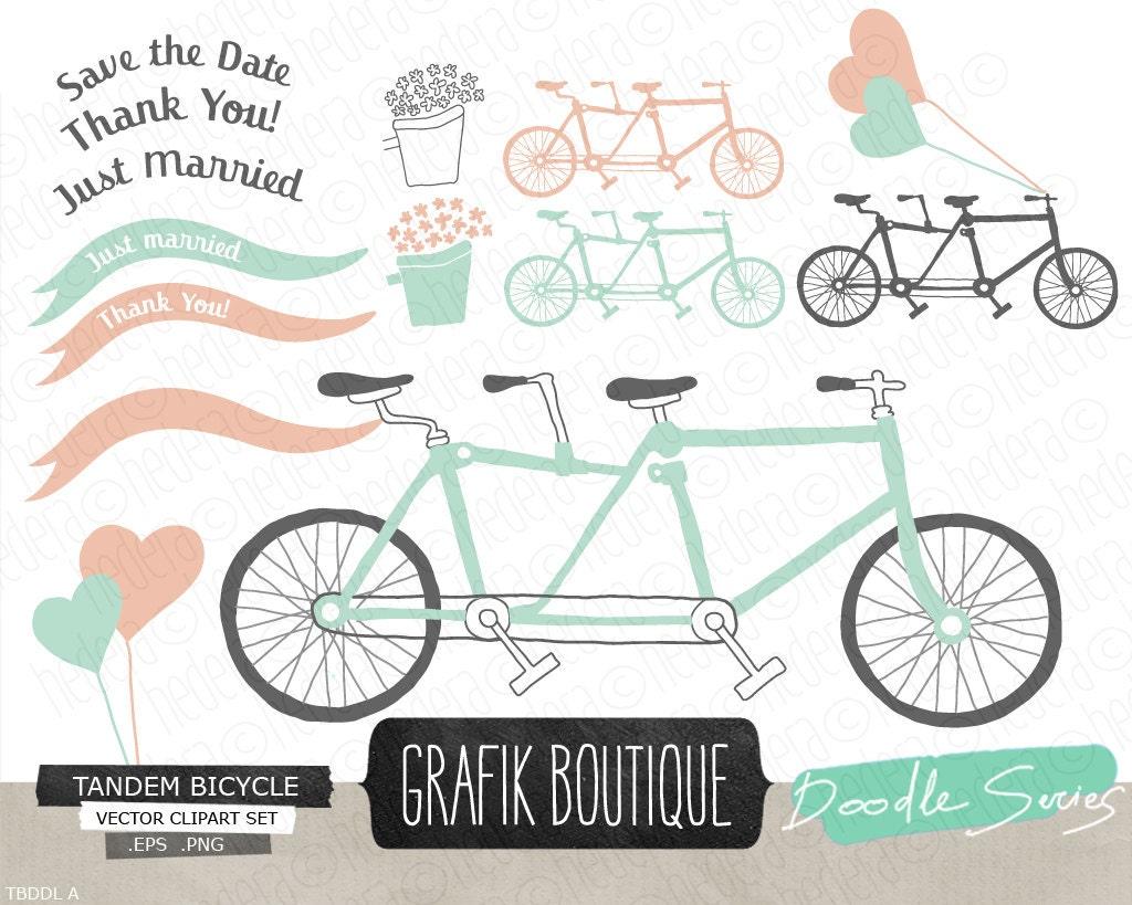 tandem bicycle clip art free - photo #44