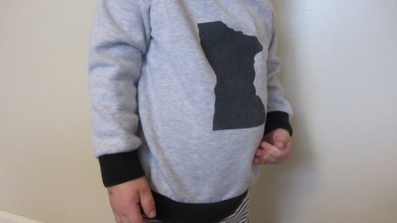 Little kid's state hoodie. custom order.