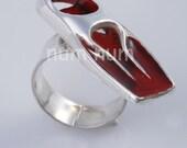 sterling silver 925 flexible flipper ring