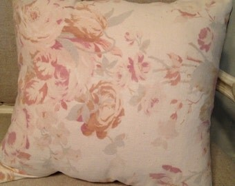 Vintage Shabby Roses Pillow Cover