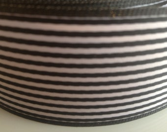 Black and White Ribbon 1.4 inches x 4 yards