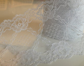 White lace ribbon 3.0 inches x 9 ft