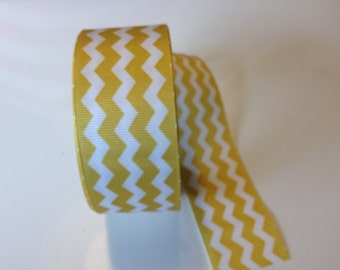 Yellow Chevron Ribbon 1.5 inches x 4 yards