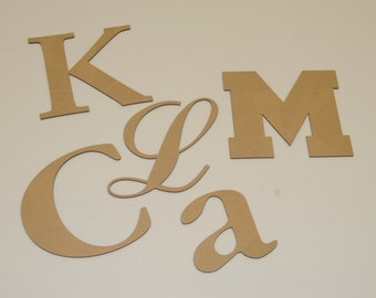 4 inch Cardboard Letters and Numbers - Your Choice of Font - Any Character ( Letter / Number / Punctuation)