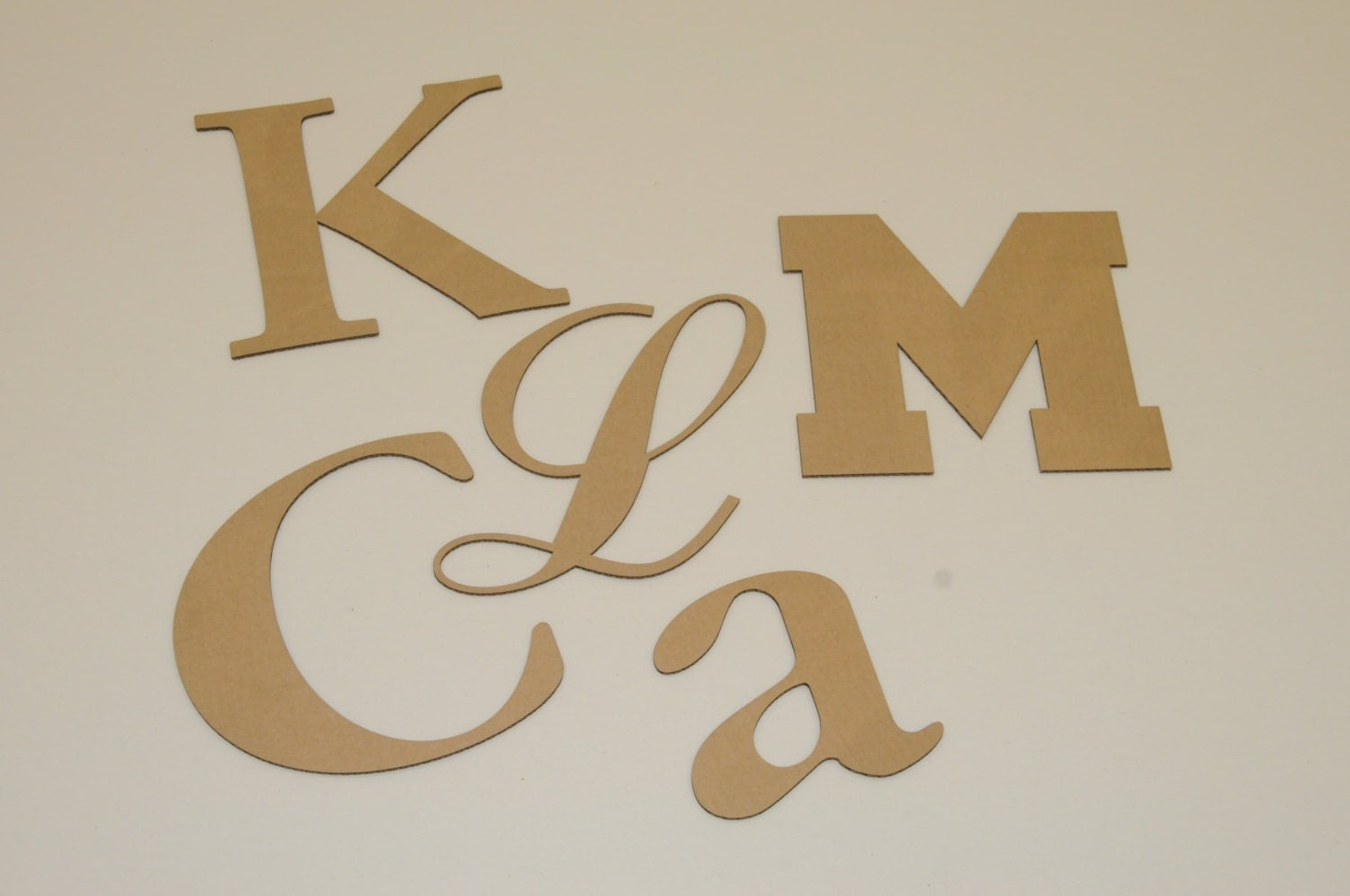 4 inch cardboard letters and numbers your choice of font With 4 inch letters and numbers