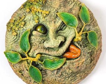 Green Man Plaque 'Tree Spirit' Summer