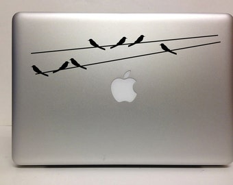 Macbook Decal Birds on a wire decal Macbook Stickers laptop decal iPad decals for macbook 001