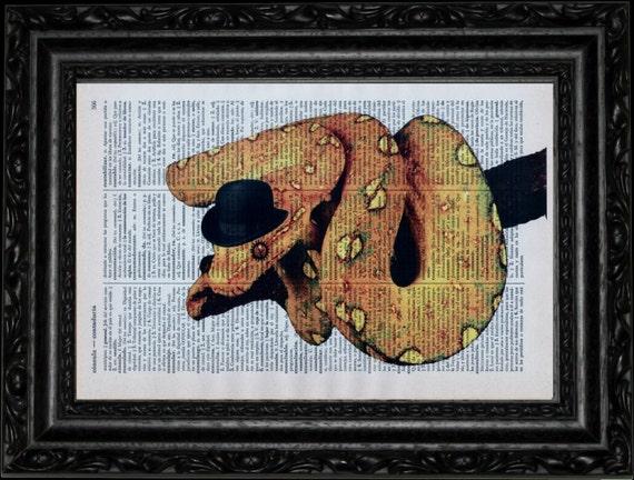 Clockwork Orange Snake Dictionary Art Vintage Book Print ...