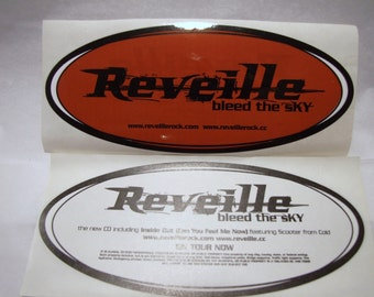 Reveille Sticker Bleed the Sky Album Band Logo Glossy Oval Promo Decal