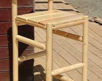 Log furniture Rustic Snow Creek Saloon Bar Chair