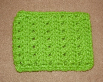 Crochet iPhone/ cell phone case/sleeve - green