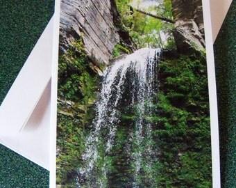 Waterfall in Havanna Glen, Montour Falls, NY note card