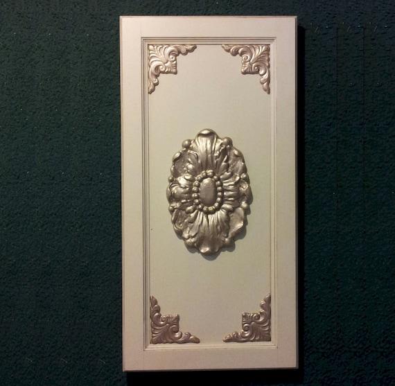 Kitchen Cabinet Appliques: Fabulous Floral Oval Cabinet Door Applique By