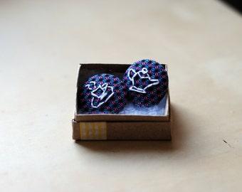 Embroidered Tea Set Badges