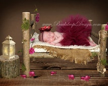 REAL WOOD!!! Photo Prop Log bed Newborn photography prop hand made wooden bed