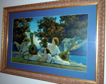 Maxfield Parrish Original large 1924  LUTE PLAYERS  Art Print