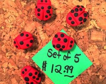 Ladybug Thumb Tacks