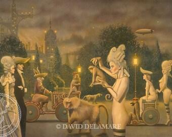 "LUMIÈRE BOULEVARD (Unframed 36""x22.5"" Giclée Print)  Art  by David Delamare"