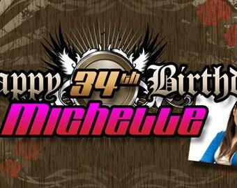 Happy Birthday Rebel Banner