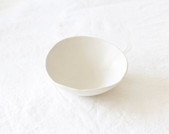 Handmade White Ceramic Bowl