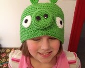 Crochet Hat -  Angry Birds Pig (Bad Piggies)
