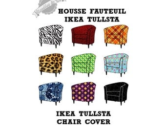Ikea Tullsta chair cover pattern - patron housse Ikea Tullsta