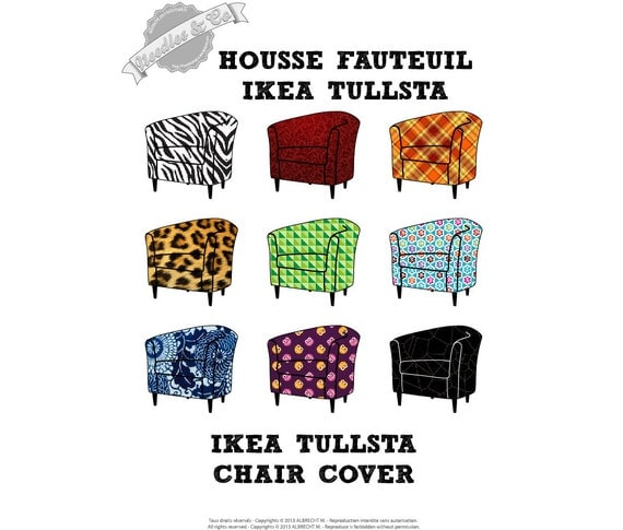 Ikea Tullsta Chair Cover Pattern Patron Housse Ikea Tullsta