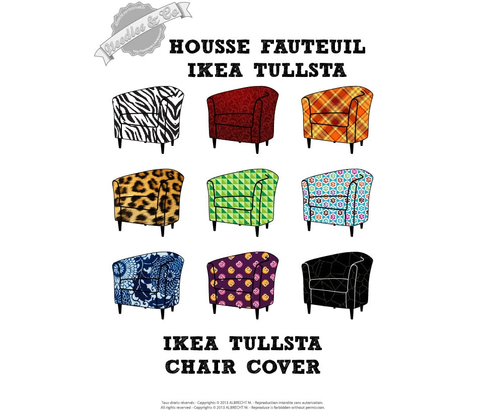 Ikea tullsta chair cover pattern patron housse ikea tullsta for Chaise fauteuil ikea