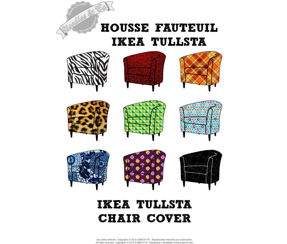 Ikea tullsta chair cover pattern patron housse ikea tullsta for Housse fauteuil ikea