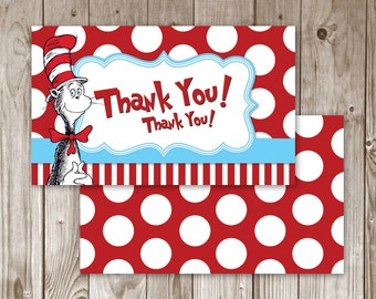 Digital File - Dr. Seuss Thank You Card