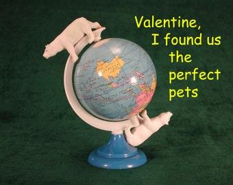 Valentine card:  Bipolar Bears