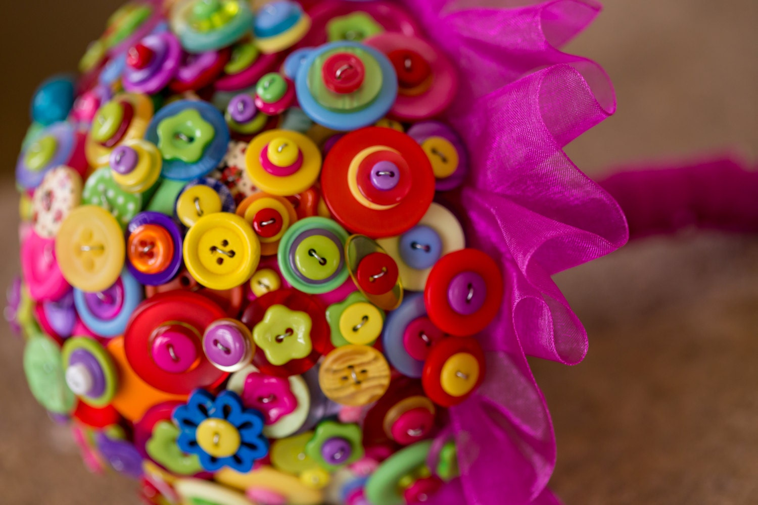 button bouquets summer brights