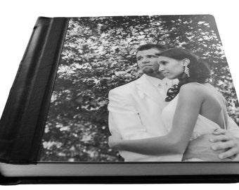 Custom Wedding Album - Flush Mount Wedding Album with Metal Cover 10 x 10