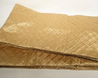 "100% Silk Drapery Panel, 96""x 52"", Hilton Caramel"