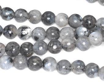 4mm Black Labradorite Larvikite Gemstone Round 4mm Loose Beads 15.5 inch Full Strand (90114573-246)