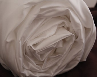 Luxury White Queen Fitted Bed Sheet 400 thread count Sateen Cotton